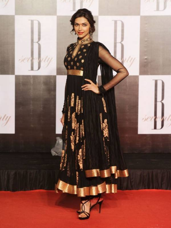Deepika Padukone In Black Bollywood Suit | Marissa Fashion ...